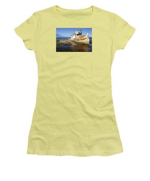Point Reyes Shipwreck Women's T-Shirt (Junior Cut) by Amy Fearn