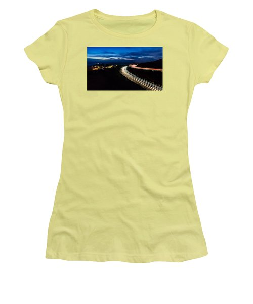 Point Vincente Light Trails Women's T-Shirt (Athletic Fit)