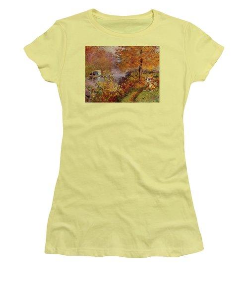 Women's T-Shirt (Junior Cut) featuring the digital art Pokemonet by Greg Sharpe