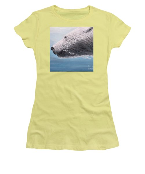 Polar Bear Splash Women's T-Shirt (Athletic Fit)