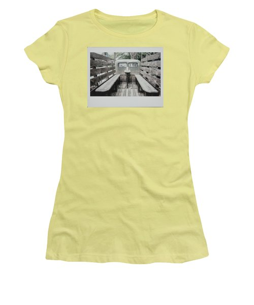 Polaroid Image-old Truck Bench Seats Women's T-Shirt (Athletic Fit)