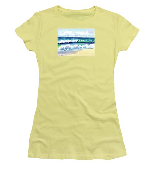Polhale Waves 3 Women's T-Shirt (Junior Cut) by Marionette Taboniar
