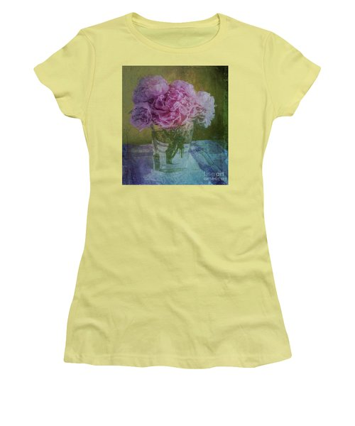 Polite Peonies Women's T-Shirt (Junior Cut) by Alexis Rotella