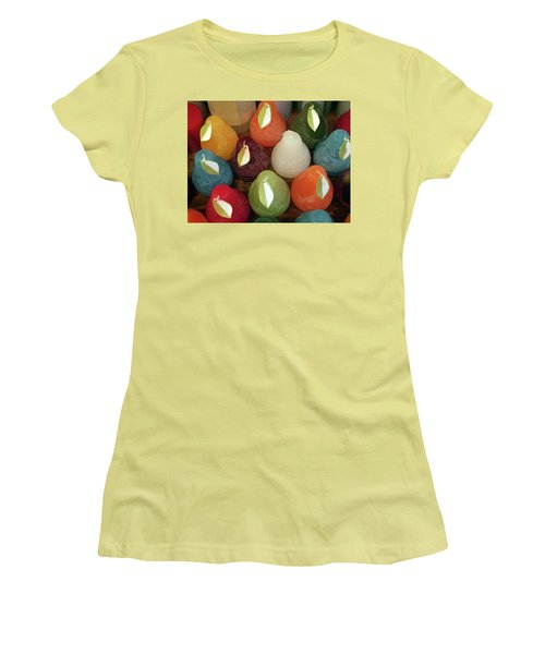 Polychromatic Pears Women's T-Shirt (Athletic Fit)