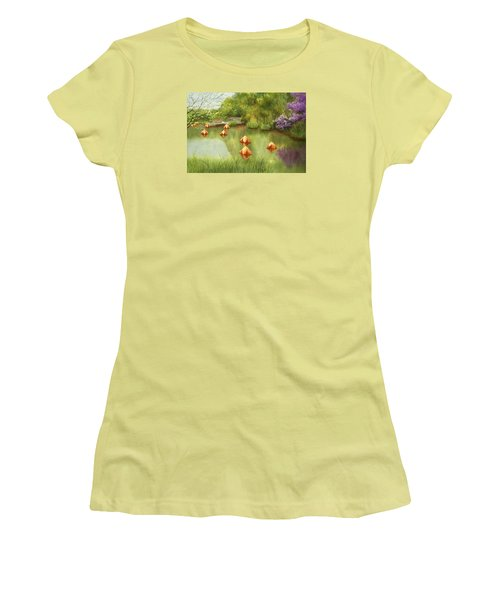 Pond At Olbrich Botanical Garden Women's T-Shirt (Athletic Fit)