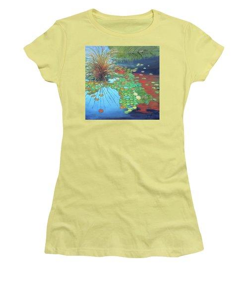 Pond Women's T-Shirt (Junior Cut) by Gary Coleman
