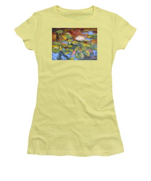 Pond Play Women's T-Shirt (Junior Cut) by Trina Teele