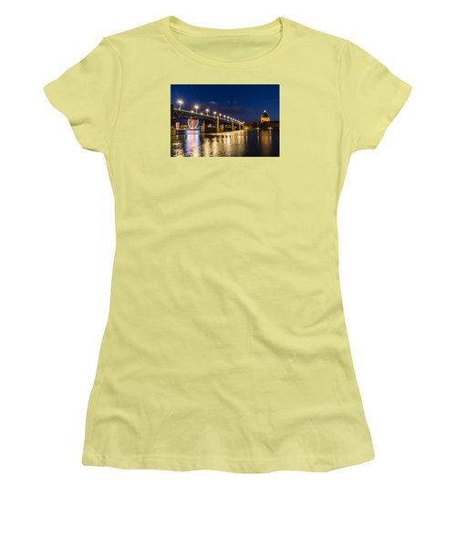 Pont Saint-pierre With Street Lanterns At Night Women's T-Shirt (Junior Cut) by Semmick Photo