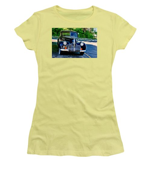 Women's T-Shirt (Junior Cut) featuring the photograph Pontiac 1940 by Joan Bertucci