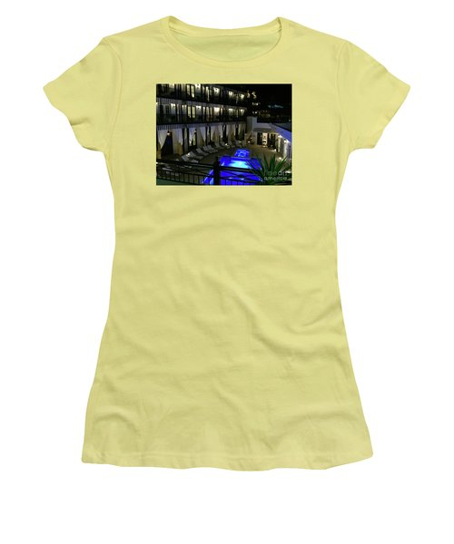 Poolside At The Pearl Women's T-Shirt (Junior Cut) by Megan Cohen