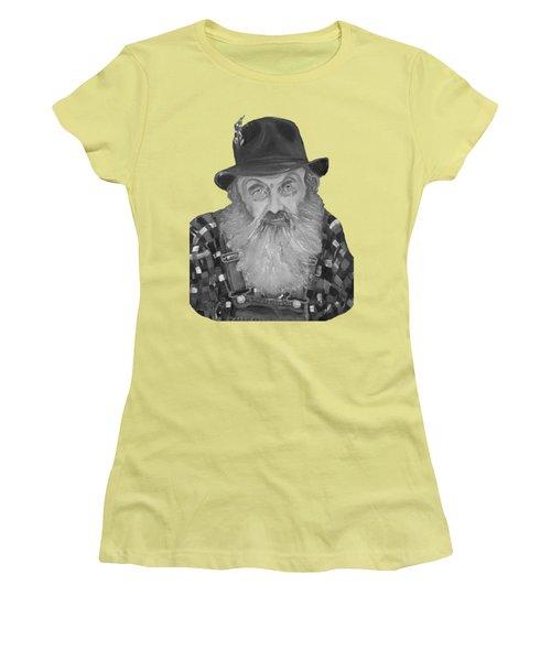 Popcorn Sutton Moonshiner Bust - T-shirt Transparent B And  W Women's T-Shirt (Junior Cut) by Jan Dappen