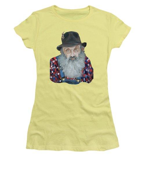 Popcorn Sutton Moonshiner Bust - T-shirt Transparent Women's T-Shirt (Junior Cut) by Jan Dappen