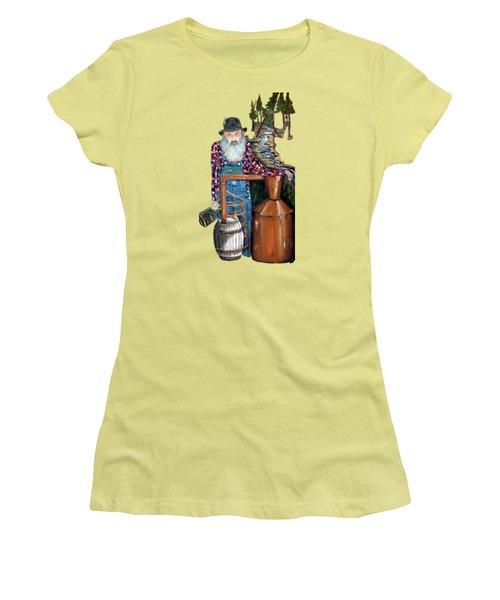 Popcorn Sutton Moonshiner -t-shirt Transparrent Women's T-Shirt (Junior Cut) by Jan Dappen