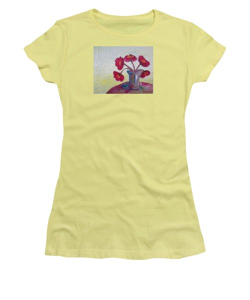 Poppies In A Vase Women's T-Shirt (Athletic Fit)