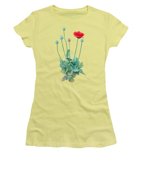 Poppy Women's T-Shirt (Junior Cut) by Ivana Westin