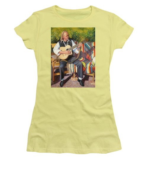 Women's T-Shirt (Junior Cut) featuring the painting Por Tu Amor by Donelli  DiMaria