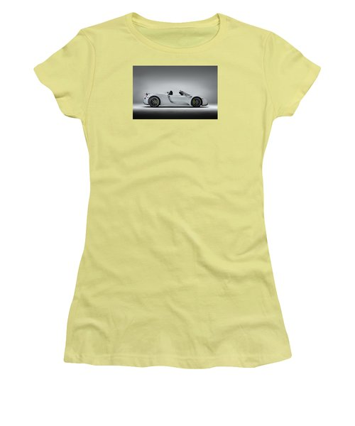 Women's T-Shirt (Junior Cut) featuring the digital art Porsche 918 Spyder by Douglas Pittman