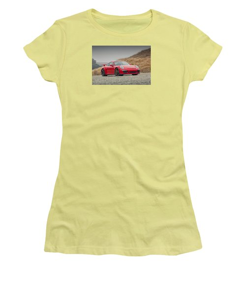 Porsche 991 Gt3 Women's T-Shirt (Athletic Fit)
