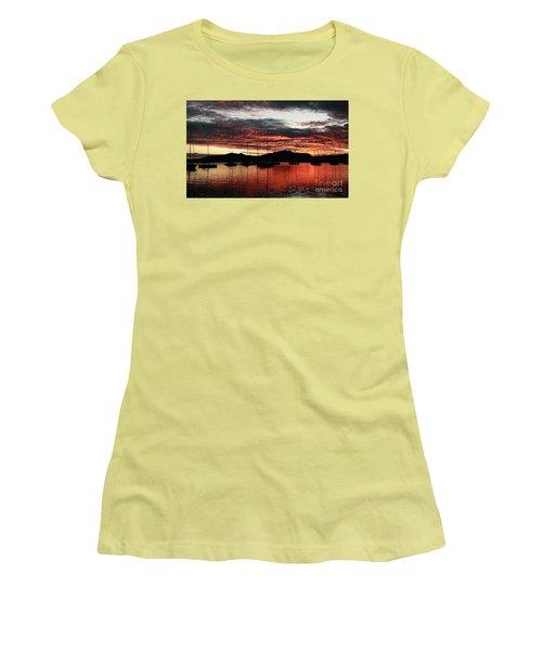 Port Denarau Fiji At Sunrise Women's T-Shirt (Athletic Fit)