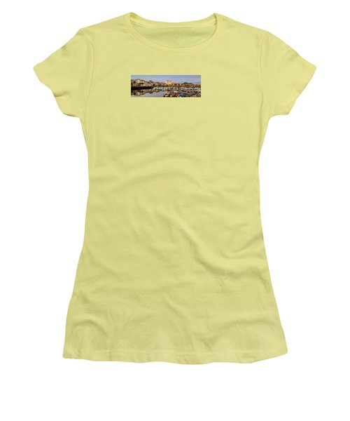 Women's T-Shirt (Junior Cut) featuring the photograph Port Of Ferrol Galicia Spain by Pablo Avanzini