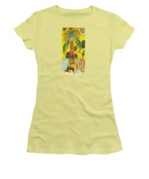 Women's T-Shirt (Junior Cut) featuring the painting Portal To Adventure by Artists With Autism Inc