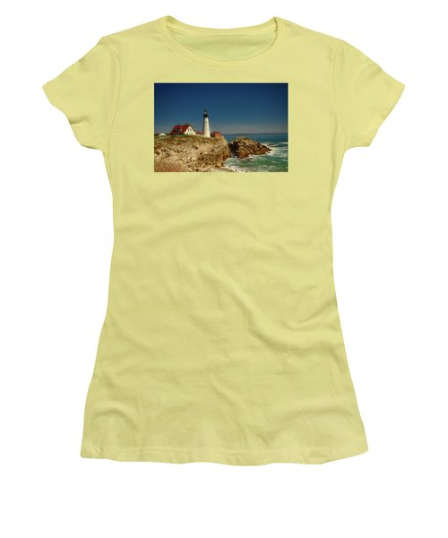 Portland Head Lighthouse 2 Women's T-Shirt (Junior Cut) by Sherman Perry