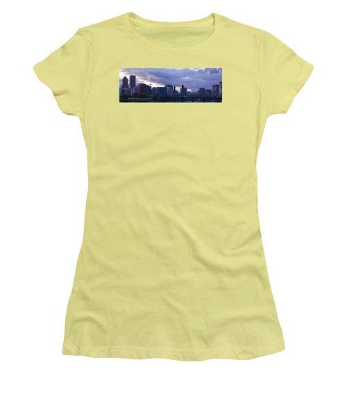 Women's T-Shirt (Junior Cut) featuring the photograph Portland Oregon Panorama by Jonathan Davison