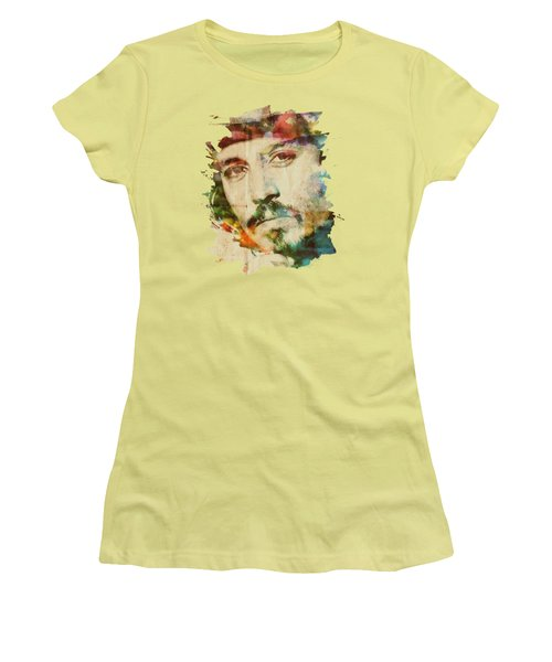 Portrait Of Johnny Women's T-Shirt (Junior Cut) by Maria Arango