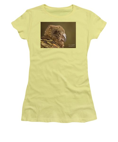Portrait Of Kea Calling Women's T-Shirt (Junior Cut) by Max Allen