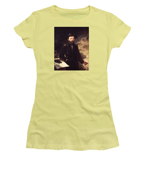 Portrait Of Ulysses S. Grant Women's T-Shirt (Athletic Fit)