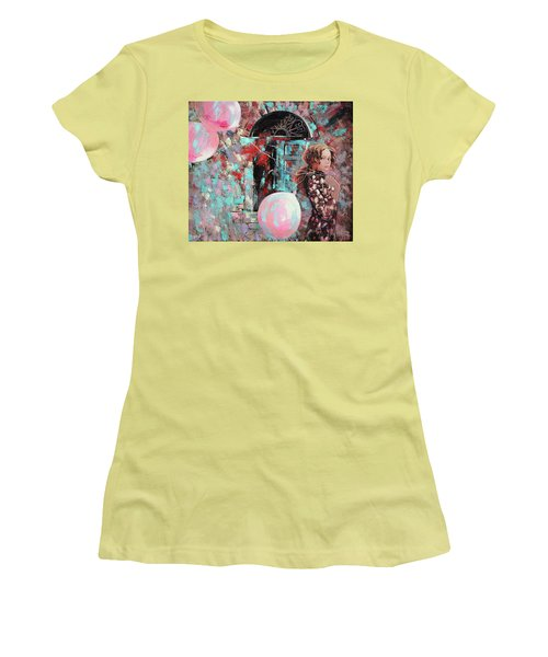 Portrait. Pink Dreams Women's T-Shirt (Athletic Fit)
