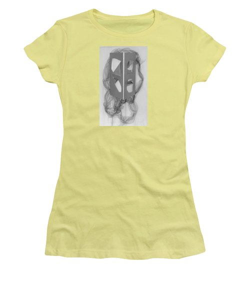 Women's T-Shirt (Junior Cut) featuring the sculpture Portrait by Al Goldfarb