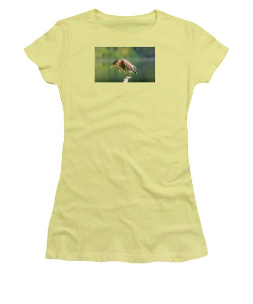 Women's T-Shirt (Junior Cut) featuring the photograph Posing Heron by Jerry Cahill