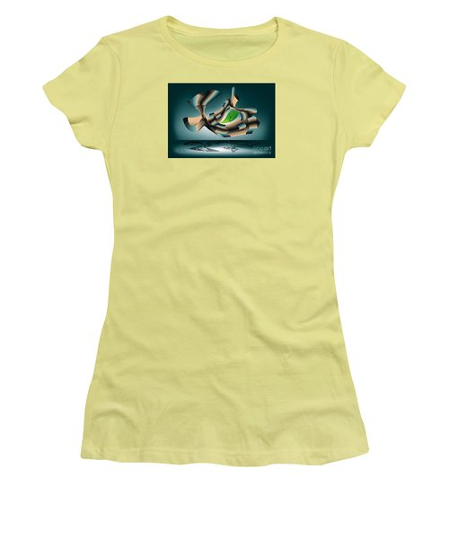 Women's T-Shirt (Junior Cut) featuring the digital art Position by Leo Symon