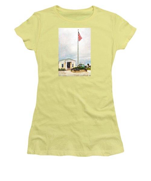 Post Office In Seaside Florida Women's T-Shirt (Junior Cut) by Vizual Studio