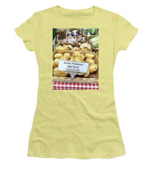 Potatoes At The Market  Women's T-Shirt (Junior Cut) by Tom Gowanlock