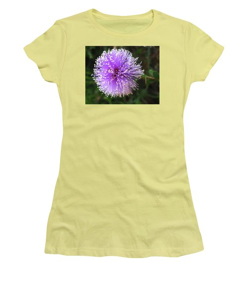 Purple Orb Women's T-Shirt (Junior Cut) by Mary Ellen Frazee