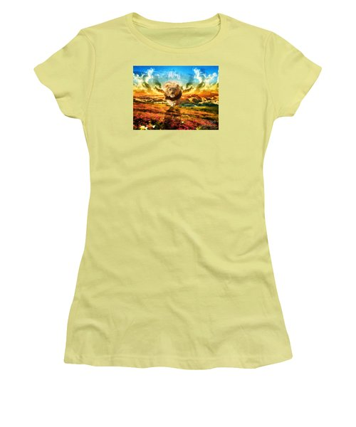 Power And Glory Women's T-Shirt (Junior Cut) by Dolores Develde