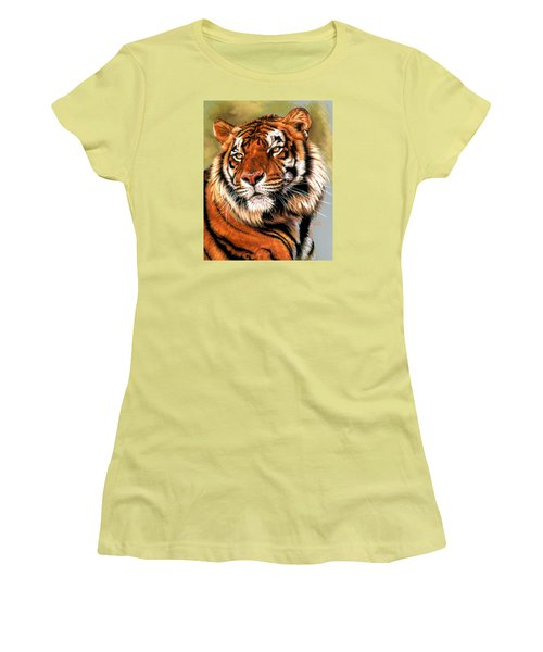 Women's T-Shirt (Junior Cut) featuring the pastel Power And Grace by Barbara Keith