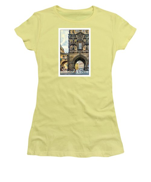 Prague Powder Tower  Women's T-Shirt (Junior Cut) by Janis Knight