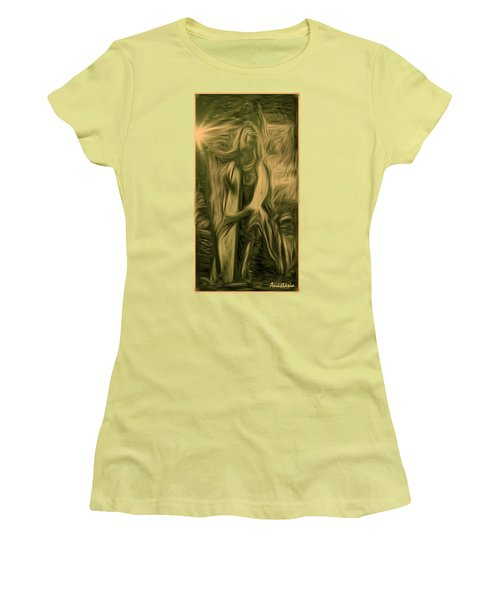 Praise Him With The Harp I Women's T-Shirt (Athletic Fit)