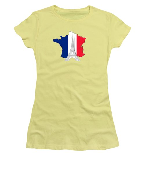 Pray For Paris Women's T-Shirt (Athletic Fit)