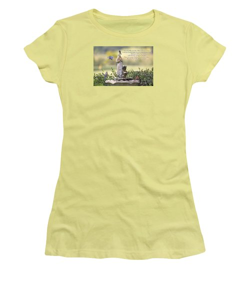 Prayer For The Animals That Bless Our Lives Women's T-Shirt (Junior Cut) by Bonnie Barry