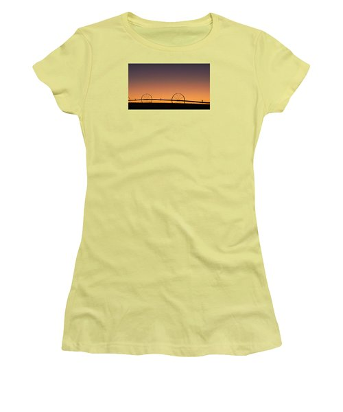 Pre-dawn Orange Sky Women's T-Shirt (Athletic Fit)