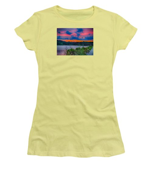 Pre-sunset At Hbsp Women's T-Shirt (Junior Cut) by Bill Barber