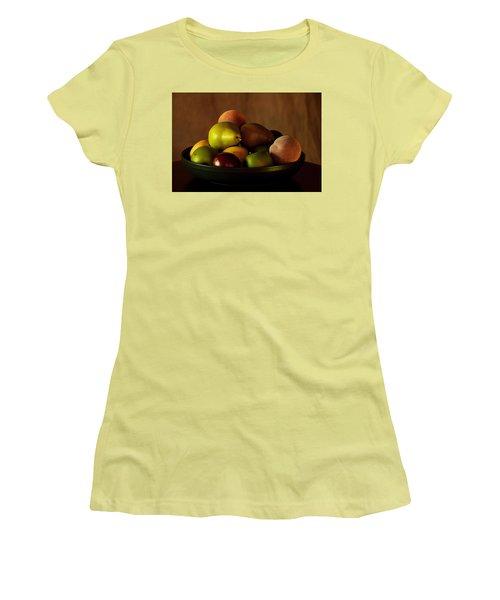 Women's T-Shirt (Junior Cut) featuring the photograph Precious Fruit Bowl by Sherry Hallemeier