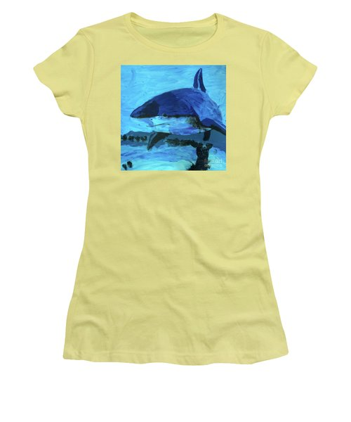 Women's T-Shirt (Athletic Fit) featuring the painting Predator by Donald J Ryker III