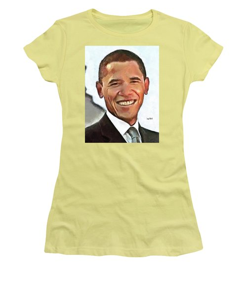 President Barack Obama Women's T-Shirt (Athletic Fit)