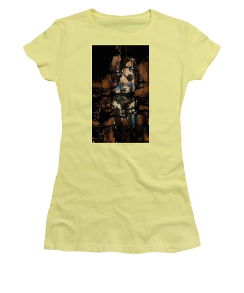 Women's T-Shirt (Junior Cut) featuring the painting Pressure Cracked by Jim Vance