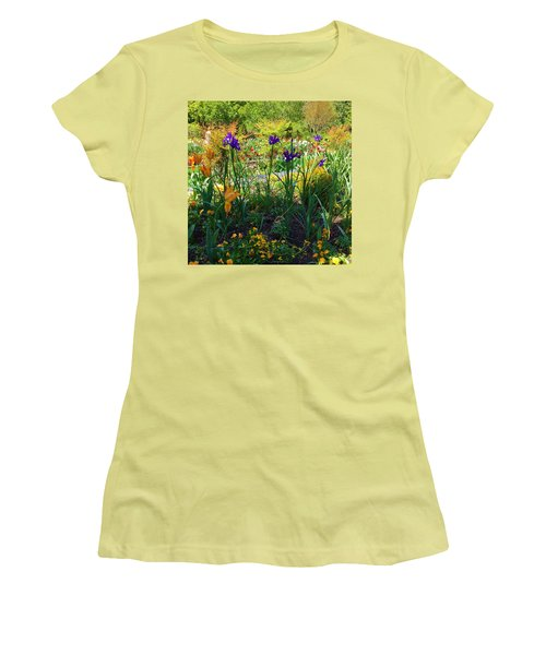 Pretty Flowers Women's T-Shirt (Junior Cut) by Kay Gilley